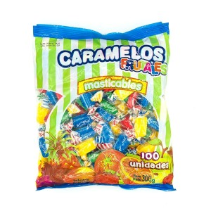 CARAMELO MASTICABLE FRUTAL X 300 GR.