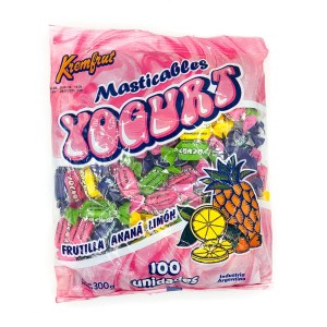 CARAMELO MASTICABLE YOGURT X 300 GR.