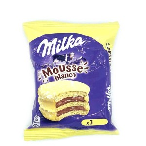 ALFAJOR TRIPLE MILKA MOUSSE CHOCOLATE BLANCO