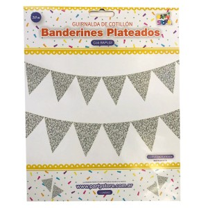 BANDERINES PLATEADOS GLITTER
