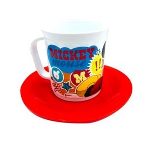 SET TAZA CON PLATO MICKEY
