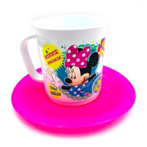 SET TAZA CON PLATO MINNIE